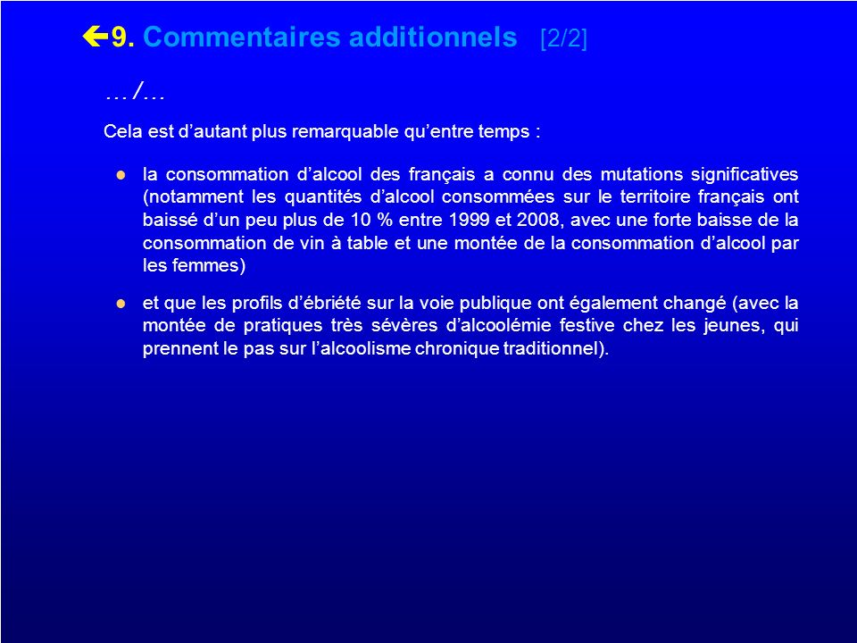 9. Commentaires additionnels [2/2]